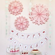 Hanging Paper Flowers | The TomKat Studio Shop