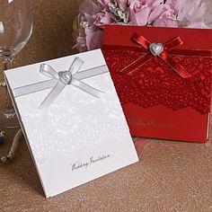 довольно свадебное приглашение сердце жемчуга и кружева - набор из 12 (больше цветов) – RUB p. 1 230,87