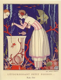 George Barbier (1882–1932) was one of the great French illustrators of the early 20th century.    Barbier5_Matou_en_Peluche