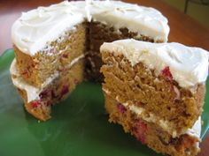 Pumpkin & Cranberry Spice Cake (Vegan or Not)