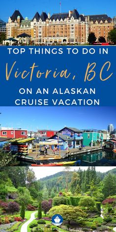 Does your Alaska cruise vacation stop in Victoria, BC? Here are the top things to do in Victoria, British Columbia, Canada! From photography at Butchart Gardens, partake of afternoon tea at the Fairmont Empress Hotel, to visiting fisherman's wharf, and so much more. You can also enjoy local food at the restaurants or nightlife downtown. You will not be short of what to do in this cruise port. Check out the blog post for all the things to do to make the most of your time in Victoria, BC! Cruise Excursions, Cruise Destinations, Cruise Port, Cruise Vacation, Best Alaskan Cruise, Fairmont Empress, Victoria British Columbia, Packing List For Cruise, Cruise Outfits