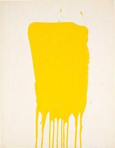 Yves Klein, Monochrome Jaune Sans Titre (M 8), 1957 #DailyInspiration #SittingPrettyClothing