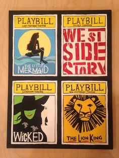 make your own broadway playbill canvas