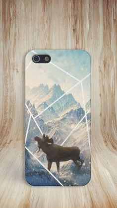 Moose x Mountains x Snow Case for iPhone 6 6 Plus iPhone 5 5s 5c 4 4s Samsung Galaxy s6 s5 s4 & s3 and Note 5 4 3 2