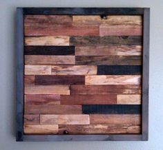 what to do with all my wood scraps? make a wall sculpture!