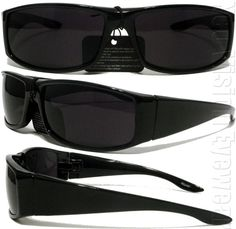 563ca6d572e Details about Gangster Black Cholo Wrap Sunglasses Super Dark Lens OG LOC  Lowrider Style 22SD