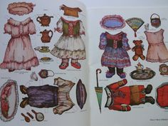 Vintage Victorian Cat Family Paper-doll Book by WylieOwlVintage
