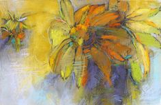 Coneflower in the Sun pastel by Debora L. Stewart.