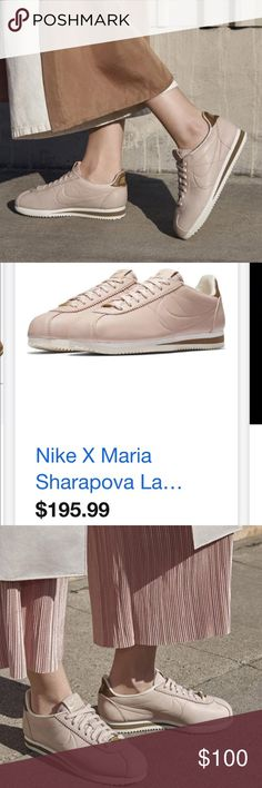 Maria Sharapova X Nike Cortez Design New never worn, only used for my blog pictures Nike Shoes Athletic Shoes