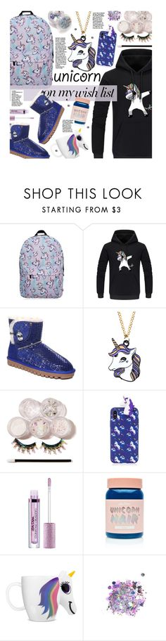 """""""#PolyPresents: Wish List"""" by beebeely-look ❤ liked on Polyvore featuring The Gypsy Shrine, Lime Crime, unicorn, newyear, polyPresents, gamiss and unicornmakeup"""