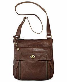 Fossil Handbag, Stanton Leather Traveler Crossbody - Handbags & Accessories - Macy's