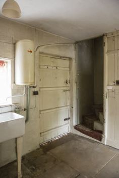 The scullery in the untouched worker's two up two down No. 13 Oak Cottage at Quarry Bank, Cheshire