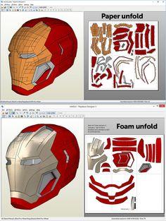Mark 45 Friday Helmet Pepakura file DIY by MaxCrft on Etsy