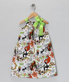 Take a look at this Lime & Orange 'LOL' Ribbon Dress - Toddler & Girls by Coradorables on #zulily today!