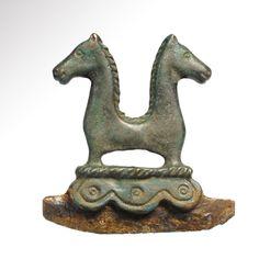 Roman Horse-Headed Shaving Razor, 3rd-4th Century AD Iron razor with bronze handle