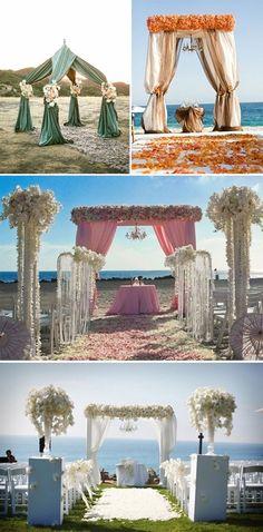 beach wedding altar decor