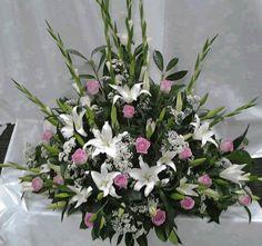 This domain may be for sale! Contemporary Flower Arrangements, Flower Arrangement Designs, Church Flower Arrangements, Funeral Arrangements, Altar Flowers, Church Flowers, Fall Flowers, White Flowers, Fresh Flowers