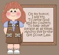 Thanksthe Girl Scout law awesome pin