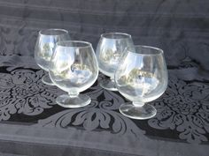 Check out this item in my Etsy shop https://www.etsy.com/listing/493675182/set-of-4-snifter-glasses