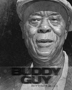 Buddy Guy Poster by Stavros Damos, via Behance