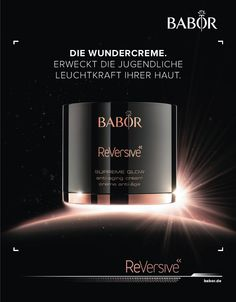 BABOR - ReVersive - anti-aging cream Beauty Tips For Skin, Beauty Hacks, Supreme, Bottle Drawing, Ads Creative, Makes You Beautiful, Cosmetic Packaging, Light Texture, Anti Aging Cream