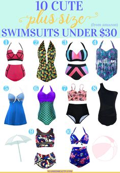 10 Cute Plus Size Swimsuits Under $30 from Amazon | Slashed Beauty
