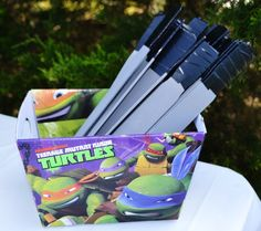 Carter Clayton's Totally Awesome TMNT Birthday Party | CatchMyParty.com ~ Leo's Swords