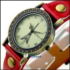 Винтажные кварцевые часы с Эйфелевой башней фирмы WoMaGe Где купить: http://ali.pub/z2kae