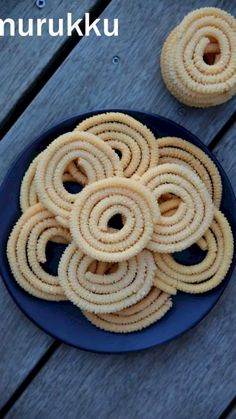 rice murukku recipe, rice chakli, rice flour murukku, rice flour chakli with step by step photo/video. traditional south indian snack made with rice flour. Indian Dessert Recipes, Indian Snacks, Spicy Recipes, Cooking Recipes, Comida Diy, Bon Ap, Cocina Natural, Chaat Recipe, Food Videos