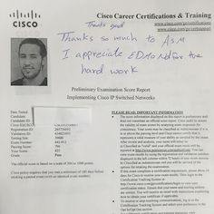 We are proud of our student who has passed Cisco CCNP Switching exam .  #ASMChangelives