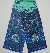NWOT Authentic EMILIO PUCCI Floral Print Silk Long Scarf Oblong