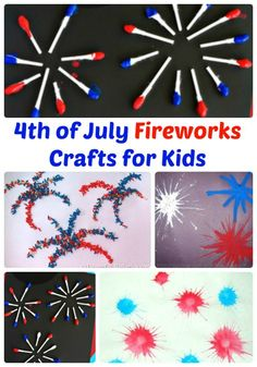4th of July Fireworks Crafts for Kids | The Jenny Evolution