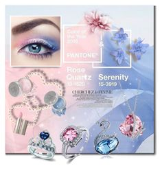 """""""Rose Quartz and Serenity"""" by sella103 ❤ liked on Polyvore featuring beauty, VILA, La Femme, Mineral Essence and Ilia"""
