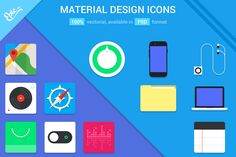 Check out Material Design Coloured Icons by EpicShop on Creative Market