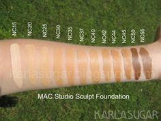 MAC Studio Foundation - so many colorssss
