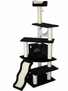 Go Pet Club Cat Tree Black Color -- To view further for this item, visit the image link.