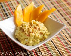 Spicy Avocado Egg Salad  @jan issues's Sushi Bar 8 large hard-boiled eggs, chopped 1/2 cup mayonnaise, preferably homemade 1/2 cup salsa 1/2 cup onion, finely chopped 1/2 cup celery, finely chopped 1 large avocado 2 tablespoons lime juice salt and pepper, to taste cayenne pepper, to taste