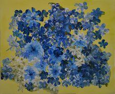 Als ich diese Blumen aus dem Garten abgemalt habe, habe ich an die Farben meiner Heimatstadt gedacht ...  Größe: 50x60cm