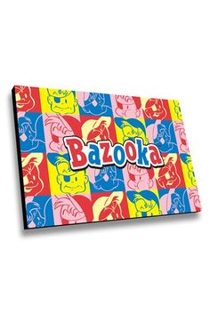LAMP-IN-A-BOX 'Bazooka Joe Colorful Squares' Wall Art - Pink
