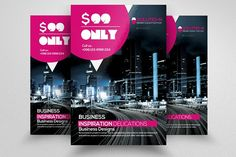 Business Inspiration Flyer template by Business Flyers on @creativemarket