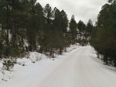 The snow covered SANTA FE JEEP TOURS / COW CREEK TOUR.