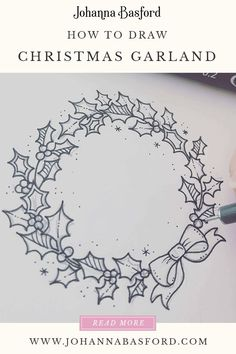 christmas doodles Heres a fun Christmas craft. Learn to draw a Christmas garland. Why not make your own Christmas cards Christmas Doodles, Christmas Drawing, Diy Christmas Cards, Xmas Cards, Christmas Art, Christmas Wreaths, Christmas Decorations Drawings, Christmas Sketch, Handmade Christmas