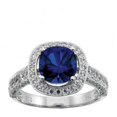 My favorite Gem type (Sapphire) coupled with an ornate ring that could become an heirloom. To top it all off it's MANMADE/CONFLICT FREE diamonds!!!!!!!!!!! LOVE IT! -diamondnexus.com Sapphire Royale Ring $949.00
