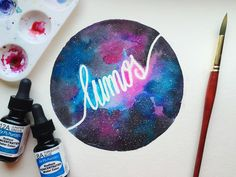 Lumos Galaxy watercolor by Max Garcia