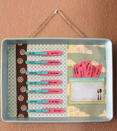 The Little Things: Re-purpose Menu Board