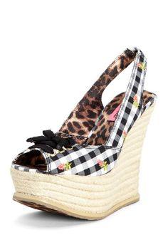 Betsey Johnson Fab Slingback Wedge Sandal by We Love Wedges on @HauteLook