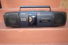 Boombox Sharp QT-CD 25 Stereo Radio Cassette Recorder With Compact Disc