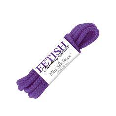 FETISH FANTASY MINI SILK ROPE PURPLE.  Mantenga atado a su amante con esta cuerda de seda, de la colección FETISH FANTASY SERIES.  Es ideal para aquellos que simplemente quieren atar las manos o los pies de su pareja, ya que no tiene que ser un experto para disfrutar del placer de jugar a la servidumbre con un estilo japonés. - See more at: http://www.sensualove.com/collections/ataduras-bondage/products/fetish-fantasy-cuerda-de-seda-mini-lila