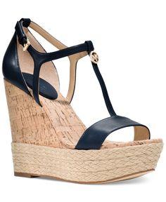 MICHAEL Michael Kors Kerri Wedge Sandals - Wedges - Shoes - Macy's