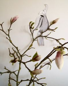 Art by Aastrøm - aastrom.dk #illustration #magnolia #bird